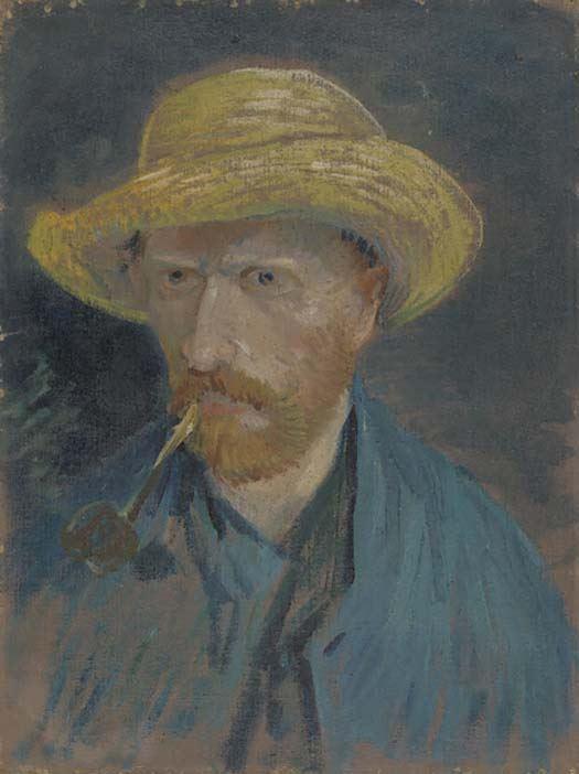 Łyk sztuki do kawy – Autoportret wsłomkowym kapeluszu zfajką