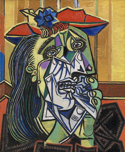 Łyk sztuki do kawy zPłaczącą kobietą