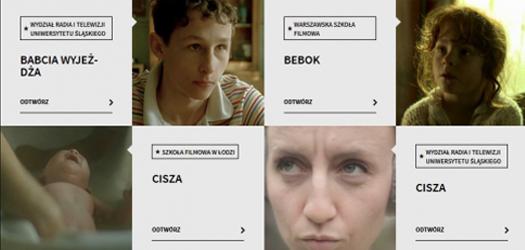Etiudy iszkolne filmy na stronie PISF
